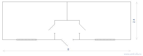 Схема стандартного блок-контейнера